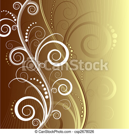 Abstract floral beautiful background (vector) - csp2678026