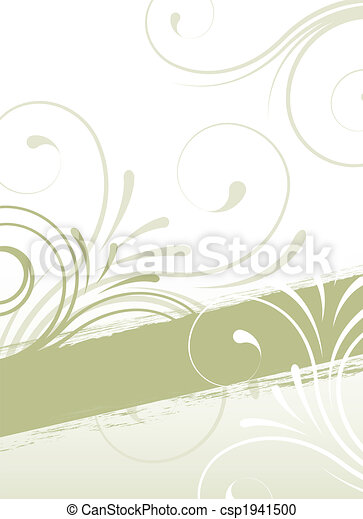 abstract floral design - csp1941500