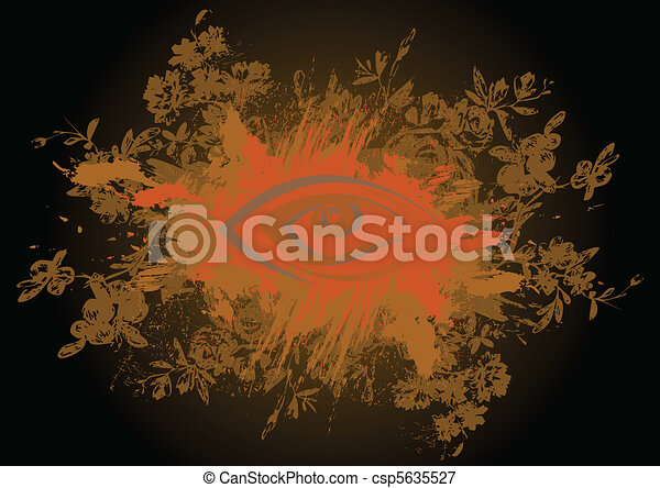 Abstract floral grunge background - csp5635527