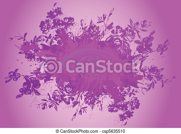 Abstract floral grunge background - csp5635510