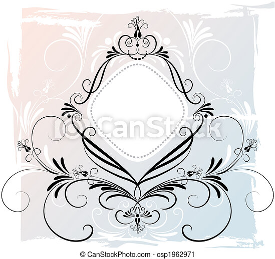 Abstract Floral Ornament - csp1962971