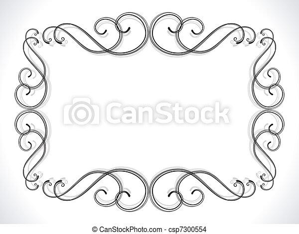 abstract floral ornamental border - csp7300554