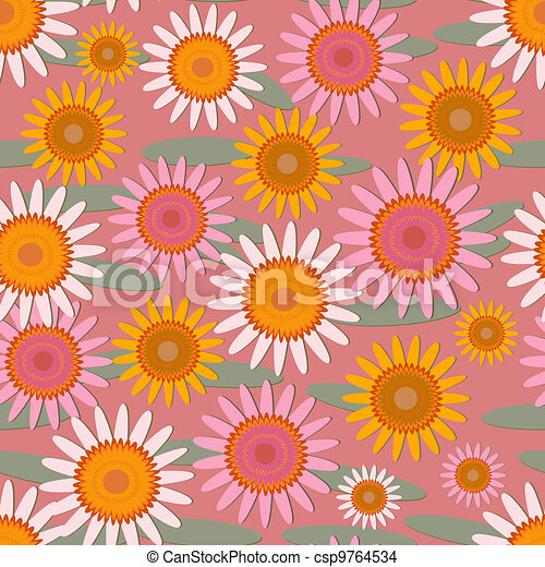 abstract floral pattern - csp9764534