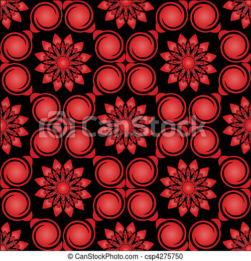 abstract floral pattern  - csp4275750
