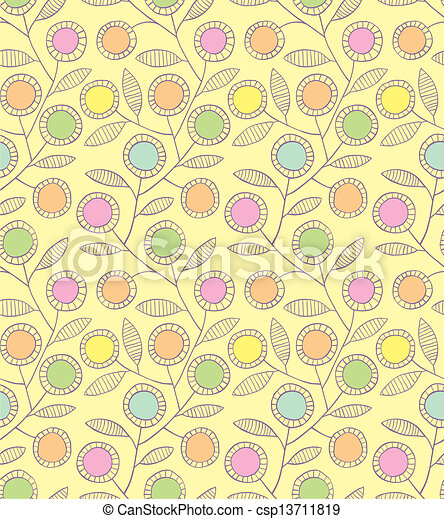 Abstract floral seamless background - csp13711819