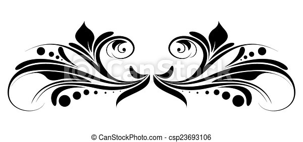 artistic decorative abstract floral separator vector design