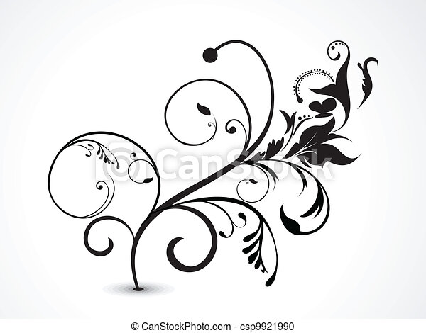 abstract floral vector illustration - csp9921990
