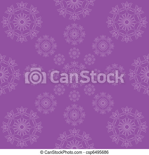 abstract floral wallpaper  - csp6495686