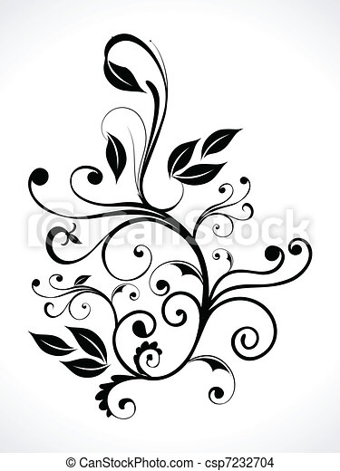 abstract floral with curve - csp7232704