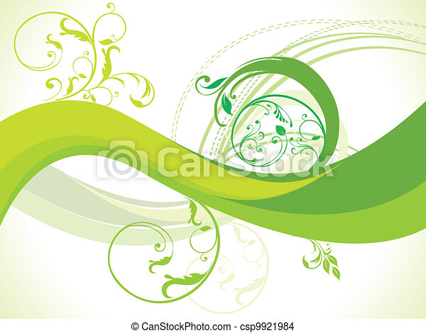 abstract floral with wave vector il - csp9921984