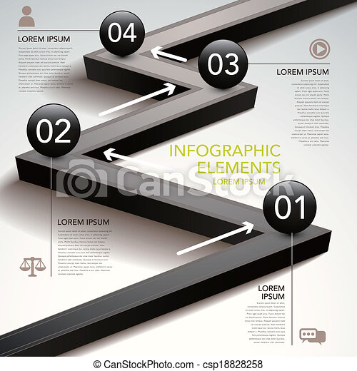 abstract flow chart infographics - csp18828258