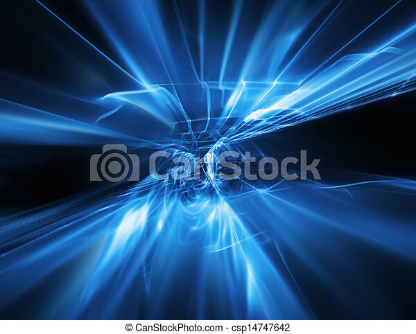 abstract flow of energy - csp14747642