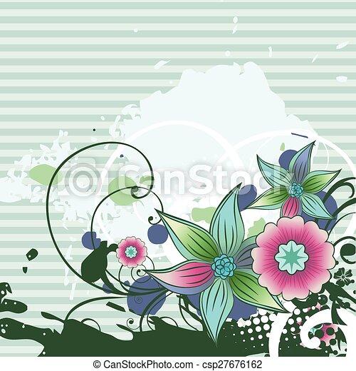 Abstract Flower Art Vector Design Illustration