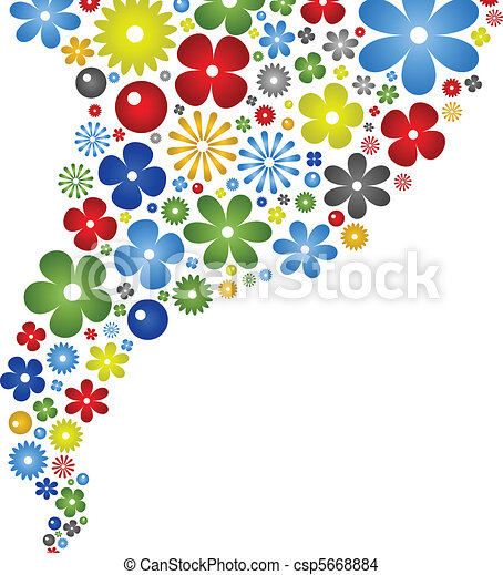 Abstract Flower Color Background
