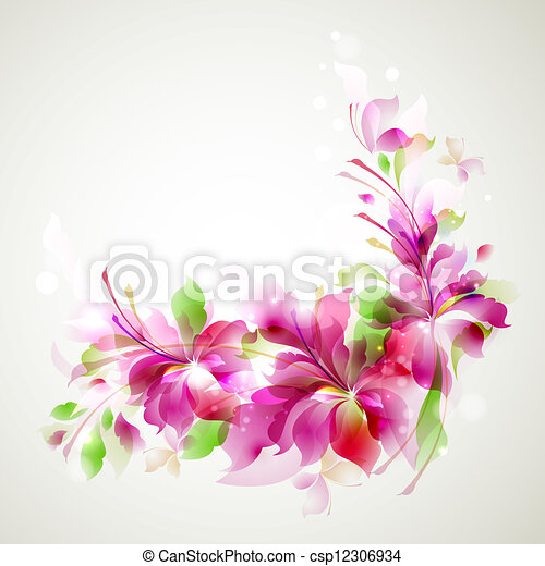 abstract flower - csp12306934