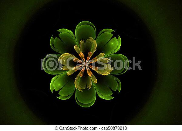 abstract flower fractal shape - csp50873218