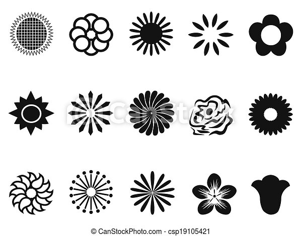 Abstract Flower Icons