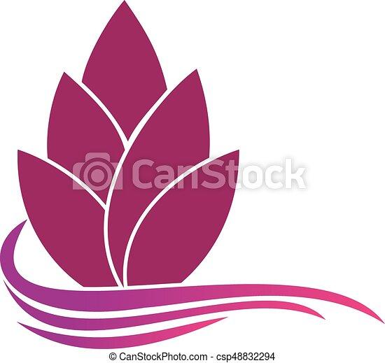 abstract flower logo template floral logo spa logo flower shop