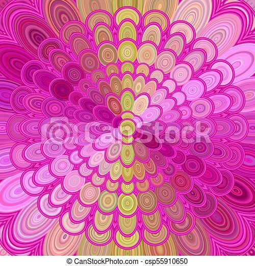 Abstract Flower Mandala Background