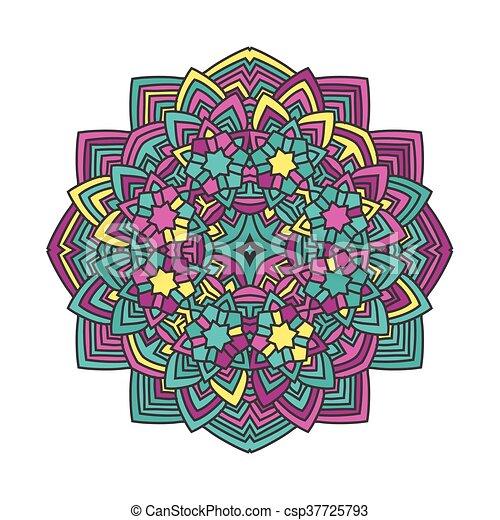 Abstract Flower Mandala Abstract Color Flower Mandala Vector