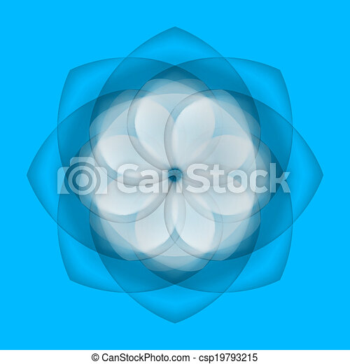 Abstract flower on blue background - csp19793215