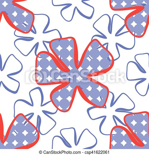 Abstract flower pattern. A seamless background. - csp41622061