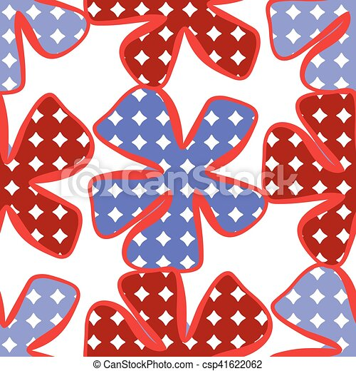 Abstract flower pattern. A seamless background. - csp41622062