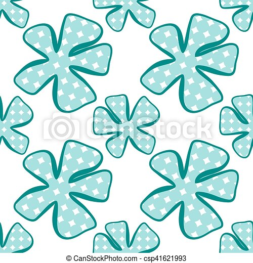 Abstract flower pattern. A seamless background. - csp41621993