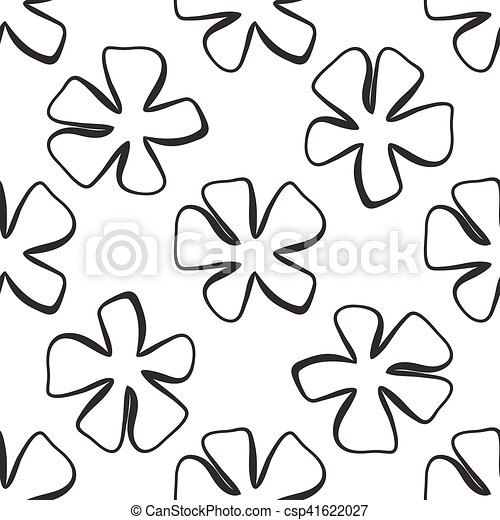Abstract flower pattern. A seamless background. - csp41622027