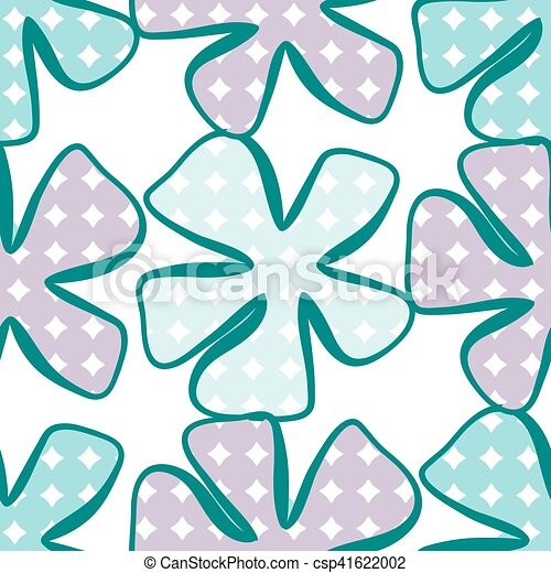 Abstract flower pattern. A seamless background. - csp41622002