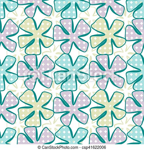 Abstract flower pattern. A seamless background. - csp41622006