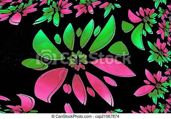 abstract flower - csp21067874