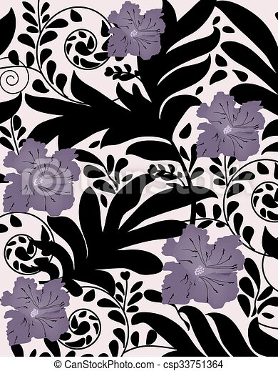 Abstract flowers background  - csp33751364