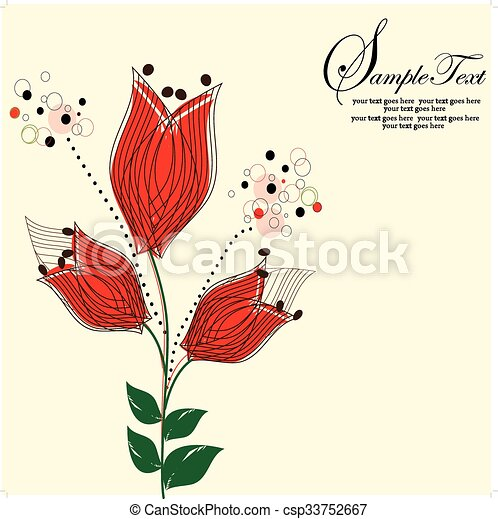 Abstract flowers background - csp33752667