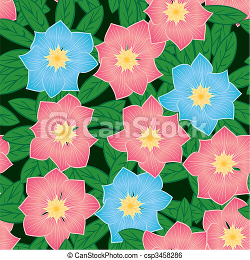Abstract flowers background - csp3458286