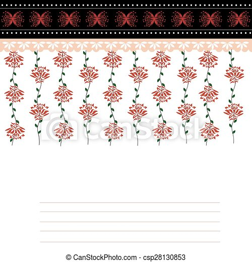 Abstract flowers background - csp28130853
