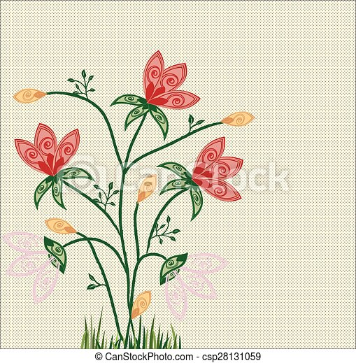 Abstract flowers background - csp28131059