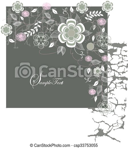 Abstract flowers background - csp33753055