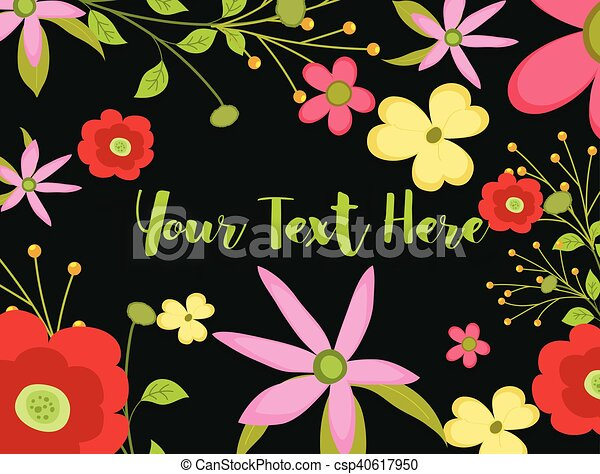 Abstract Flowers Background - csp40617950