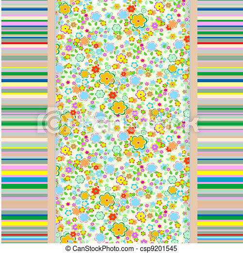 Abstract flowers background - csp9201545