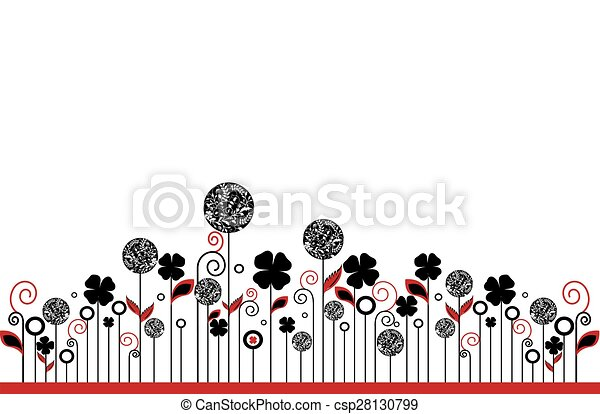 Abstract flowers background - csp28130799