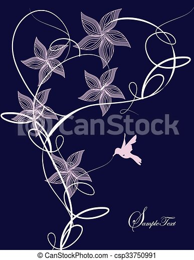 Abstract flowers background - csp33750991