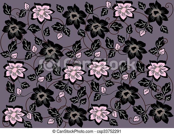 Abstract flowers background  - csp33752291