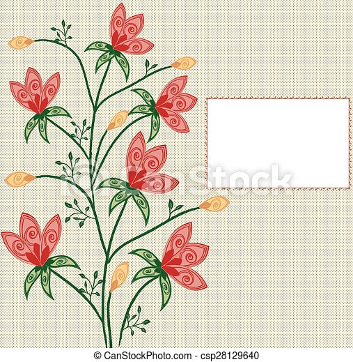 Abstract flowers background - csp28129640