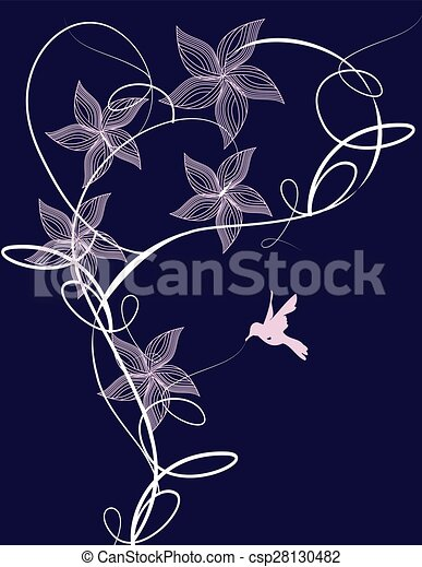 Abstract flowers background - csp28130482