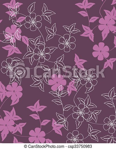 Abstract flowers background  - csp33750983