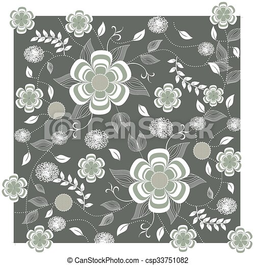 Abstract flowers background - csp33751082
