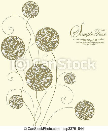 Abstract flowers background - csp33751844