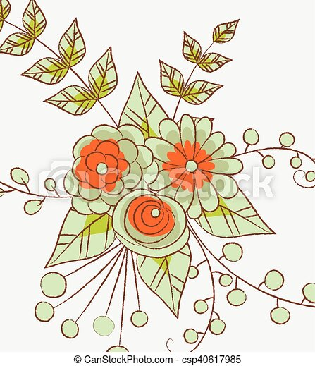 Abstract Flowers Background - csp40617985