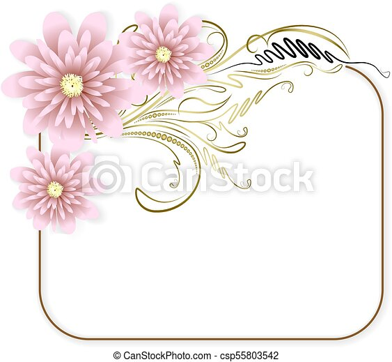 Abstract flowers background. - csp55803542
